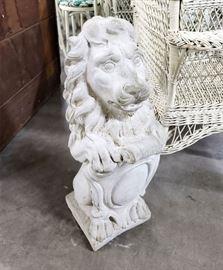 Handsome concrete lion