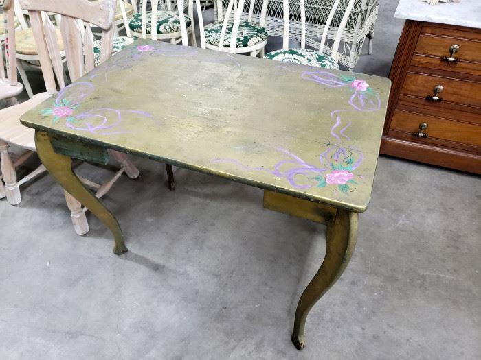 Vintage painted desk / table