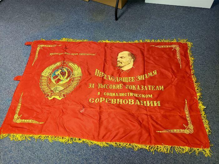 Soviet Union / Communist Russia flag banner (front side)