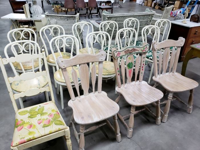 Assortment of vintage chairs