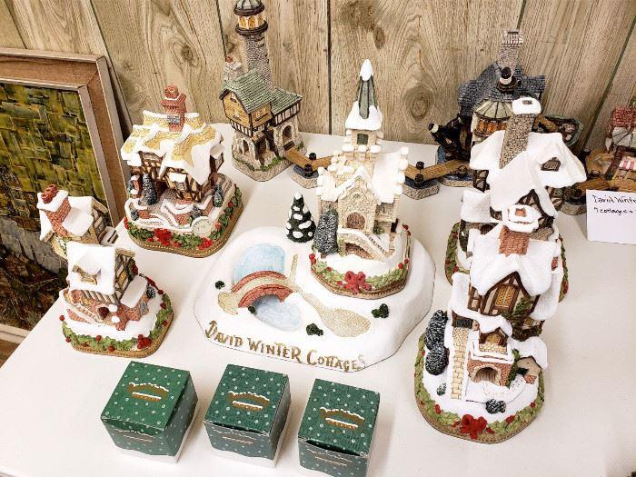 Davind Winter Christmas cottages