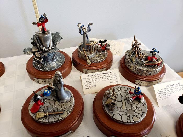 "Hudson Creek ""Fantasia"" limited edition pewter figurines"