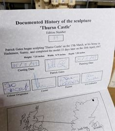 """JP Editions - The Castles of Scotland Collection - """"Thurso Castle"""" paperwork"""
