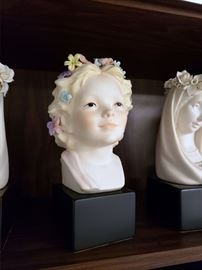 "Cybis ""Robin / Girl's Head with Flowers"""