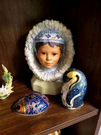 "Cybis ""Nanuq' Little Polar Bear"", Royal Crown Derby penguin and mouse"