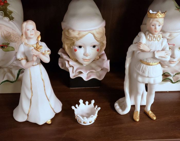 "Cybis ""Golden Princess"", ""Golden Prince"", and ""Small Crown"" - Cybis Collector's Society member pieces"