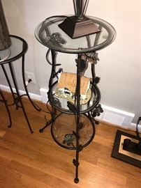 TALL GLASS TOP END TABLE