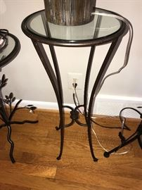 TALL ROUND GLASS TABLE
