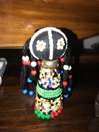 HAND MADE VINTAGE NDEBELE BEADED DOLL LINGA KOBA ART HAND MADE S. AFRICA