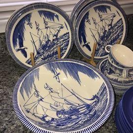 ROCKWELL KENT MOBY DICK DARK BLUE  DINNERWARE