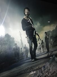 THE WALKING DEAD CAST SIGNED  AND FRAMED PHOTO POSTER SEASON 5