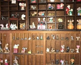 COLLECTION OF MINIATURE MICE FIGURINES