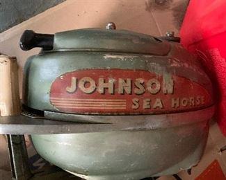 VINTAGE JOHNSON SEA HORSE OUTBOARD BOAT MOTOR