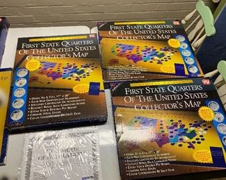 FIRST STATE QUARTERS US COLLECTOR'S MAP