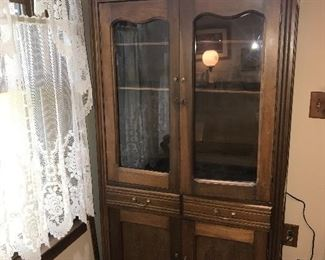 ANTIQUE COUNTRY PRIMITIVE CHINA CABINET