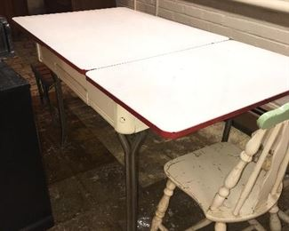 ANTIQUE METAL DINING TABLE