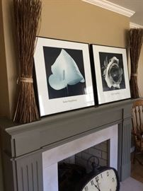Black and white sleek prints framed in matching frames
