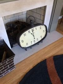 Clock can hang or includes stand to display