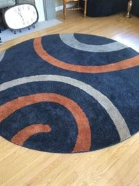 Transitional, contemporary rug