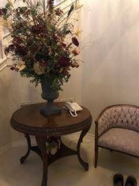 Entry table  large silk arrangement !!