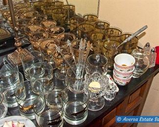 TABLES FULL of Ceramics and Glassware