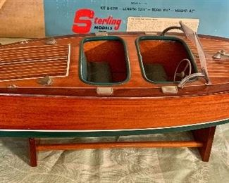 LARGE - ALL Wood - Chris Craft Boat Model