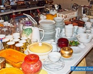 Tables of Ceramic and Glassware