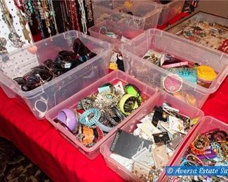 TONS of Costume Jewelry - PLUS Sterling and GOLD rings