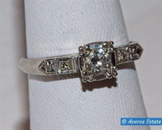14k Gold Diamond Solitaire