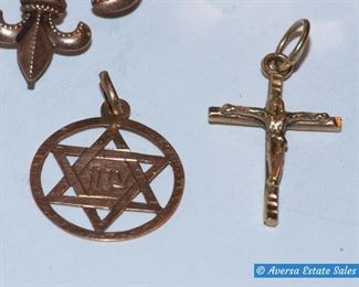 Gold Cross and Star of David