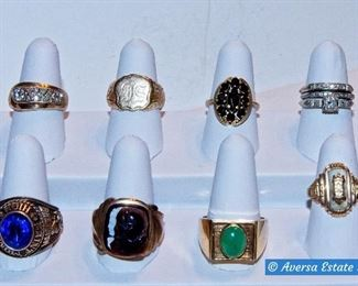 10k and 14k Gold Rings