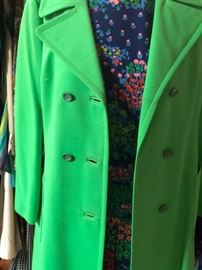 vintage lime green overcoat