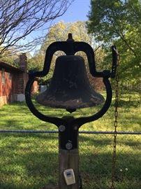 Antique cast iron farmhouse bell