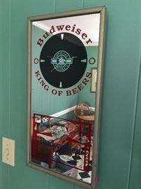 Budweiser Clock mirror
