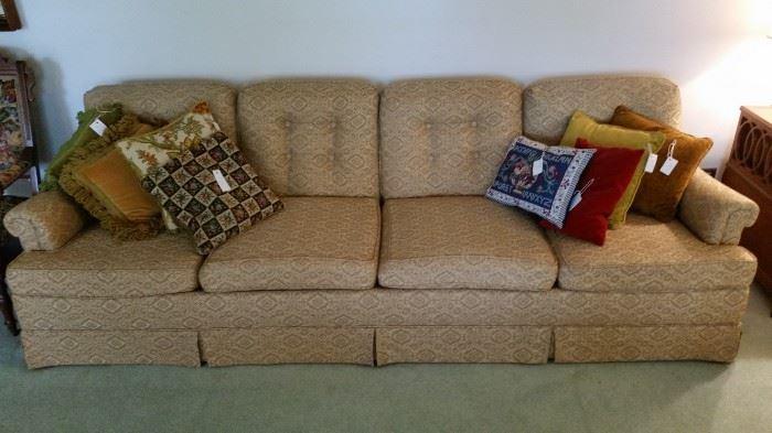 Glorious over-sized 4 cushion sofa--fantastic condition!