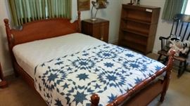 Part of a beautiful Cherry Merkel bedroom set, Bed Dresser, Chest of drawers, night stand and bench