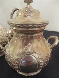 19TH C. TIFFANY& CO.  ENGLISH STERLING  CANISTER/SUGAR WITH LID