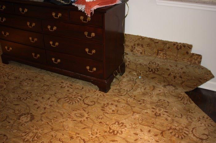 Wool floral carpet remnant
