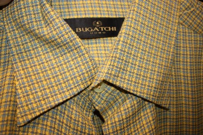 Several Bugatchi shirts