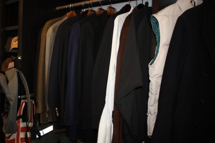 Tailor made men's suits