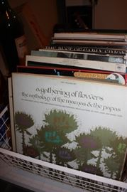 Large selection of record albums