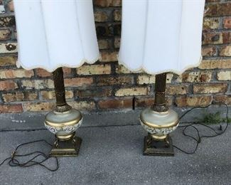 Mid Century Modern Glass and Brass Lamps (2) LA4103 https://www.ebay.com/itm/113732553635