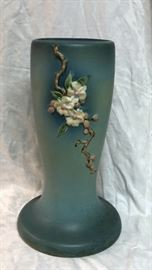 "Roseville Pottery Apple Blossom Blue Pedestal for 8"" jardiniere 305-8"" LAQ0986 https://www.ebay.com/itm/123750997276"
