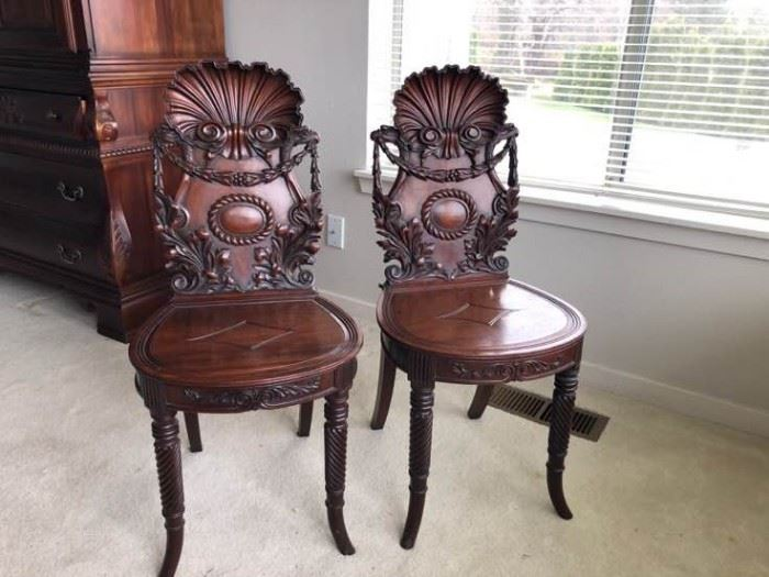 Antique Wooden Chairs 1820s