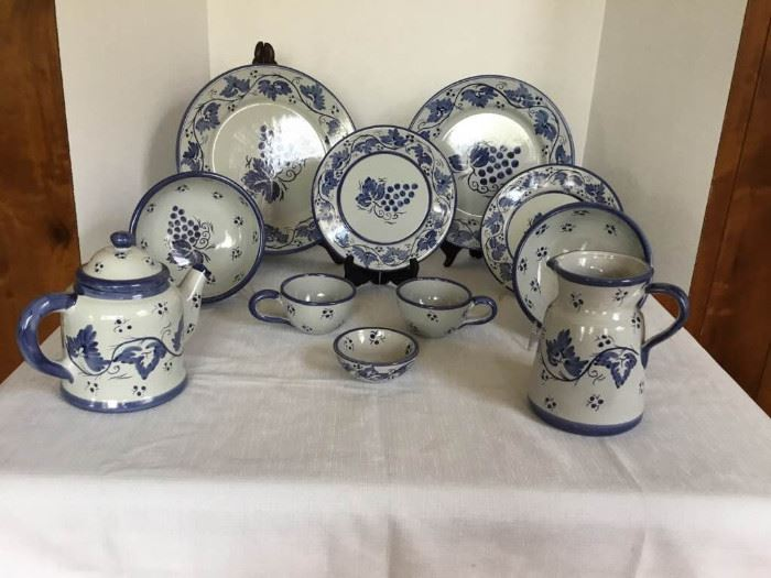 Blue Pottery Dishes https://ctbids.com/#!/description/share/135176