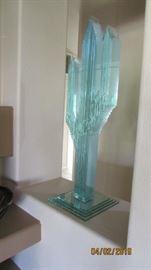 Saguaro glass cactus sculpture 3 ft tall