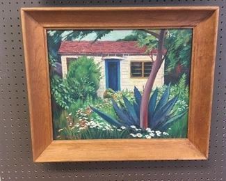 Oil on board by Leilner. Approximately 15 inches by 20 inches. Low estimate $100