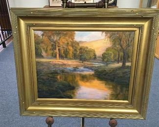 Oil on canvas by Charles Waldman. Approximately 18 inches by 24 inches. Low estimate $500
