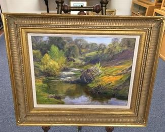 Oil on canvas by Charles Waldman. Approximately 18 inches by 24 inches. Low estimate $450