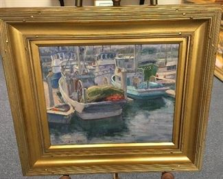 Oil on canvas by Charles Waldman. Approximately 15.5 inches by 19.5 inches. Low estimate $500